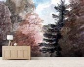Study of Trees in a Park (watercolour) wall mural living room preview