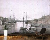 Warehouses & Shipping on the Orewell at Ipswich wallpaper mural kitchen preview