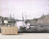 Warehouses & Shipping on the Orewell at Ipswich wallpaper mural living room preview
