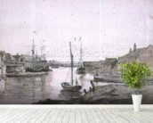 Warehouses & Shipping on the Orewell at Ipswich wallpaper mural in-room view