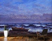 The Stormy Sea or, The Wave (oil on canvas) mural wallpaper kitchen preview