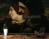 The Lovers in the Countryside, after 1844 (oil on canvas) mural wallpaper kitchen preview