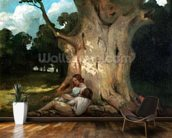 The Large Oak (oil on canvas) mural wallpaper kitchen preview