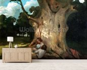 The Large Oak (oil on canvas) mural wallpaper living room preview