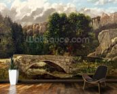 The Pont de Fleurie, Switzerland, 1873 (oil on canvas) wall mural kitchen preview