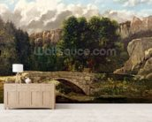 The Pont de Fleurie, Switzerland, 1873 (oil on canvas) wall mural living room preview