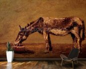 The Donkey (oil on canvas) mural wallpaper kitchen preview