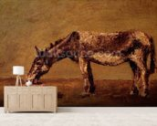 The Donkey (oil on canvas) mural wallpaper living room preview