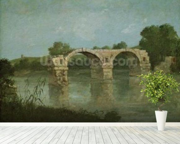 The Bridge at Ambrussum (oil on canvas) wall mural room setting
