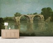 The Bridge at Ambrussum (oil on canvas) wall mural living room preview