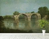 The Bridge at Ambrussum (oil on canvas) wall mural in-room view