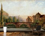 The Pont de Nahin at Ornans, c.1837 (oil on canvas) mural wallpaper kitchen preview