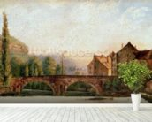 The Pont de Nahin at Ornans, c.1837 (oil on canvas) mural wallpaper in-room view