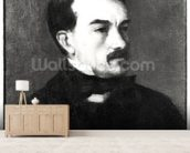 Portrait of a Man (oil on canvas) (b/w photo) wall mural living room preview
