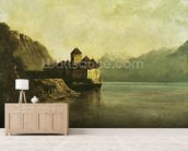 Chateau de Chillon, 1874 (oil on canvas) mural wallpaper living room preview