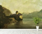 Chateau de Chillon, 1874 (oil on canvas) mural wallpaper in-room view
