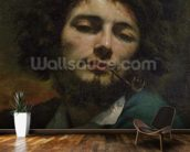 Self Portrait or, The Man with a Pipe, c.1846 (oil on canvas) wall mural kitchen preview