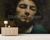Self Portrait or, The Man with a Pipe, c.1846 (oil on canvas) wall mural living room preview