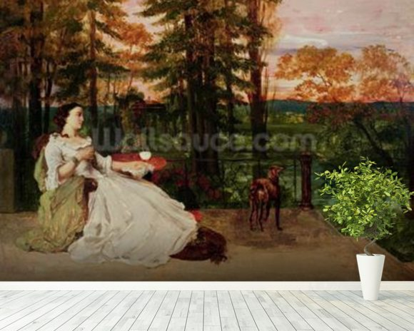 Woman of Frankfurt, 1858 (oil on canvas) wallpaper mural room setting