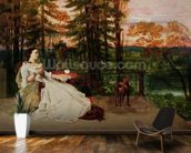 Woman of Frankfurt, 1858 (oil on canvas) wallpaper mural kitchen preview
