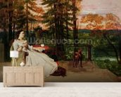 Woman of Frankfurt, 1858 (oil on canvas) wallpaper mural living room preview
