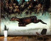 Leaping Doe (oil on canvas) wallpaper mural kitchen preview