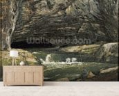 The Source of the Loue or La Grotte Sarrazine (oil on canvas) wallpaper mural living room preview