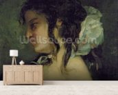 Reflection, c.1864-66 (oil on canvas) wall mural living room preview