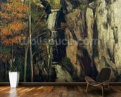 The Chasm at Conches, 1864 (oil on canvas) wallpaper mural kitchen preview