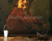 Copy of a Rembrandt Self Portrait, 1869 (oil on canvas) wall mural kitchen preview