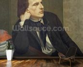 Portrait of Paul Ansout, 1844 (oil on canvas) wallpaper mural kitchen preview