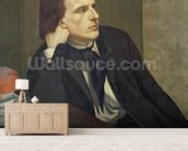 Portrait of Paul Ansout, 1844 (oil on canvas) wallpaper mural living room preview