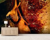 The roe, 1876 (oil on canvas) wallpaper mural living room preview