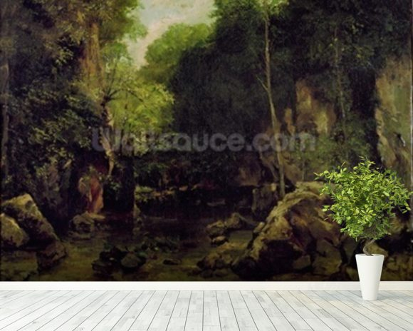 Le Puits-Noir, Doubs (oil on canvas) mural wallpaper room setting