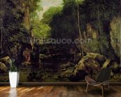 Le Puits-Noir, Doubs (oil on canvas) mural wallpaper kitchen preview
