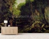 Le Puits-Noir, Doubs (oil on canvas) mural wallpaper living room preview