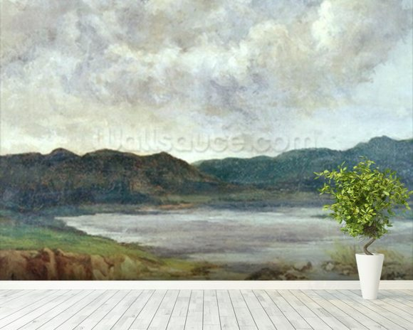 The Black Lake, 1872 (oil on canvas) wall mural room setting