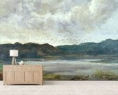 The Black Lake, 1872 (oil on canvas) wall mural living room preview