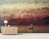 Lake Leman with Setting Sun, c.1876 (oil on canvas) wallpaper mural living room preview