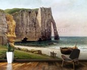 The Cliffs at Etretat, 1869 (oil on canvas) wallpaper mural kitchen preview