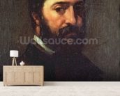 Portrait of Urbain Cuenot (b.1820) 1846 (oil on canvas) wallpaper mural living room preview