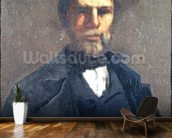Portrait of Theodore Cuenot, 1847 (oil on canvas) mural wallpaper kitchen preview