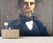 Portrait of Theodore Cuenot, 1847 (oil on canvas) mural wallpaper living room preview