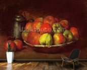 Still Life with Apples and a Pomegranate, 1871-72 (oil on canvas) mural wallpaper kitchen preview
