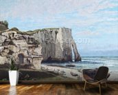 The Cliffs at Etretat after the storm, 1870 (oil on canvas) wallpaper mural kitchen preview