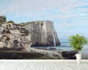 The Cliffs at Etretat after the storm, 1870 (oil on canvas) wallpaper mural in-room view