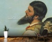 La Rencontre ou Bonjour M.Courbet, (detail of head and shoulders) wall mural kitchen preview