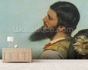 La Rencontre ou Bonjour M.Courbet, (detail of head and shoulders) wall mural living room preview