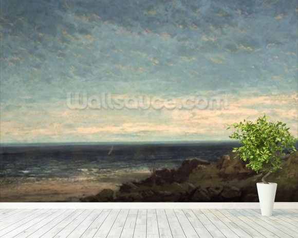 The Sea wallpaper mural room setting