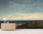 The Sea wallpaper mural living room preview